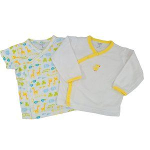 CARTER'S Set of 2 Yellow & White Tops 6 M